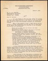 Letter to Dr. J. J. R. Macleod 7/03/1923