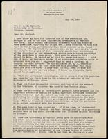 Letter to Dr. J. J. R. Macleod 29/05/1923