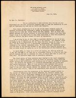 Letter to Dr Macleod 15/06/1922