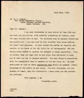 Letter to Dr. W. D. Sansum 21/06/1922