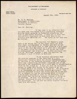 Letter to Dr. F. G. Banting 9/08/1922