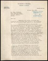Letter to Mr. Chas. H. Riches 7/10/1922