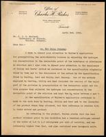 Letter to Dr. J. J. R. Macleod regarding Walden patent 3/04/1923