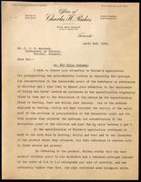 Letter to Dr. J. J. R. Macleod regarding Walden patent 3/04/1923