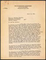Letter to Dr. R. D. Defries 13/03/1923
