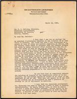 Letter to Dr. R. D. Defries 13/03/1923