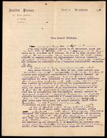 Letter to the Insulin Committee 22/10/1923