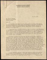 Letter to Dr. John J. Macleod 19/05/1922