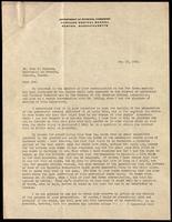 Letter to Dr. John J. Macleod 19/05/1922
