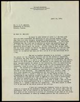 Letter to Dr. J. J. R. Macleod 10/04/1922