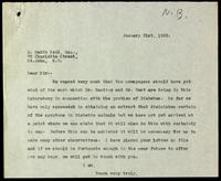 Letter to D. Smith Reid 31/01/1922