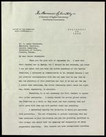 Letter to Dr. F. Lorne Hutchison 25/09/1923