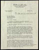 Letter to Dr. F. Lorne Hutchison 3/12/1923