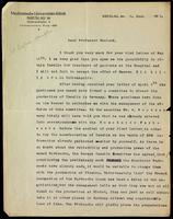 Letter to Professor Macleod 8/06/1923