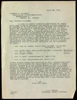 Letter to Professor O. Minkowski 6/04/1923