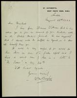 Letter to Macleod 26/08/1922
