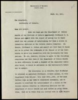 Letter to Sir Robert Falconer 21/09/1921