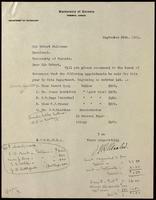 Letter to Robert Falconer 30/09/1921
