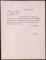 Letter to Professor J. J. R. Macleod 22/11/1923