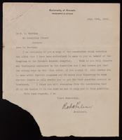 Letter offering Dr. F. G. Banting an appointment at the diabetic clinic in the Toronto general hospital