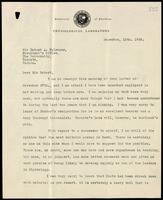 Letter to Sir Robert A. Falconer 10/12/1928