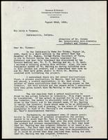 Letter to Mr. Clowes  regarding U.S. patent for insulin 22/08/1922