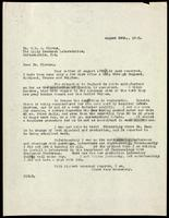 Letter to Dr. G. H. A. Clowes 28/08/1923