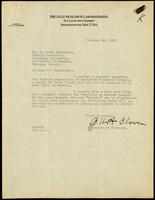 Letter to F. Lorne Hutchison 23/10/1923