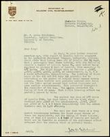 Letter to F. Lorne Hutchison 11/12/1923