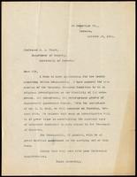 Letter to Professor C. L. Starr 19/10/1921