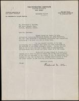 Letter to Dr. Fredrick G. Banting 08/09/1922
