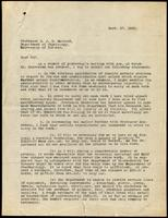 Letter to Professor J. J. R. Macleod 27/09/1922