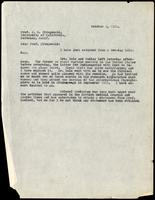 Letter to Prof. J. G. Fitzgerald 5/10/1922