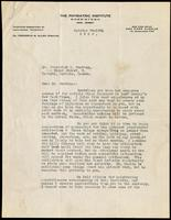 Letter to Dr. Fredrick G. Banting  12/10/1922