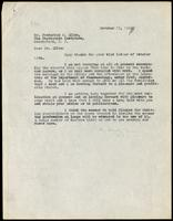 Letter to Dr. Frederick M. Allen 17/10/1922