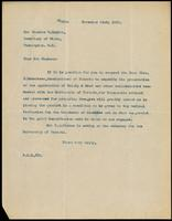 Letter to Mr Charles E. Hughes 21/13/1922