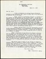 Letter to Dr. Ross 19/03/1923