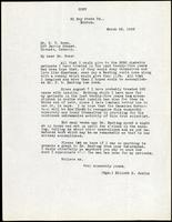 Letter to Dr. G. W. Ross 20/03/1923