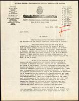 Letter to Ontario doctors regarding insulin 28/03/1923