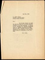 Letter to Dr. Duncan Graham 10/05/1923