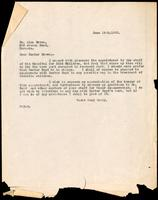 Letter to Doctor Brown 19/06/1923
