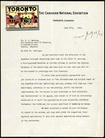 Letter to Dr. F. G. Banting 27/06/1923