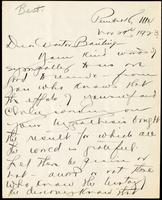 Letter to Doctor Banting 29/11/1923