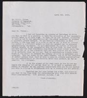 Letter to Dr. G. H. A. Clowes 3/04/1922