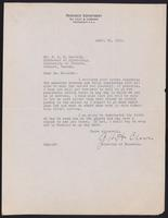 Letter to Dr. J. J. R. Macleod 24/04/1922