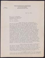 Letter to Dr. J. J. R. Macleod 11/05/1922
