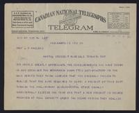 Telegram to Prof Macleod regarding agreement between Eli Lilly and the University of Toronto 25/05/1922