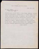 Copy of telegram sent to Dr. Clowes 22/09/1922