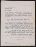 Letter  to Dr. G. H. A. Clowes 23/09/1922