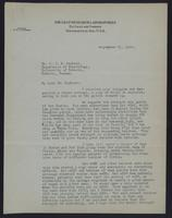 Letter to Dr. J. J. R. Macleod 23/09/1922